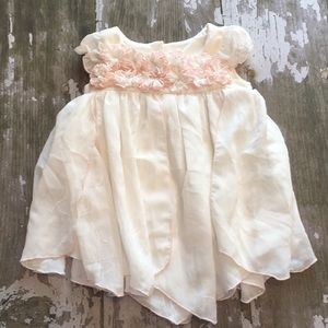 Biscotti white and pink formal dress